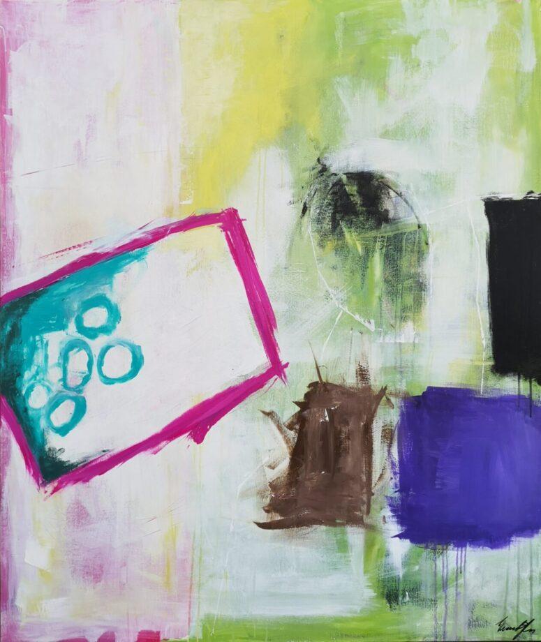 Bordet rundt, abstrakt maleri
