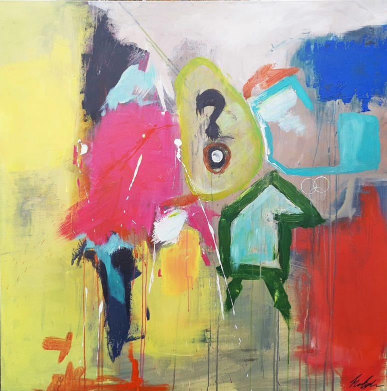 Ingen taxa, abstrakt maleri