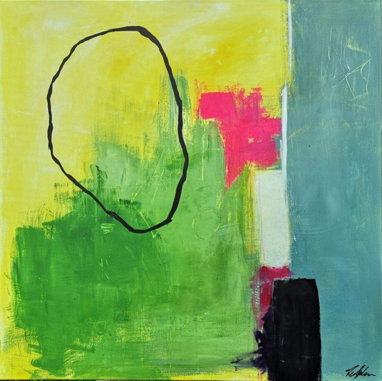 Nu eller aldrig, abstrakt maleri