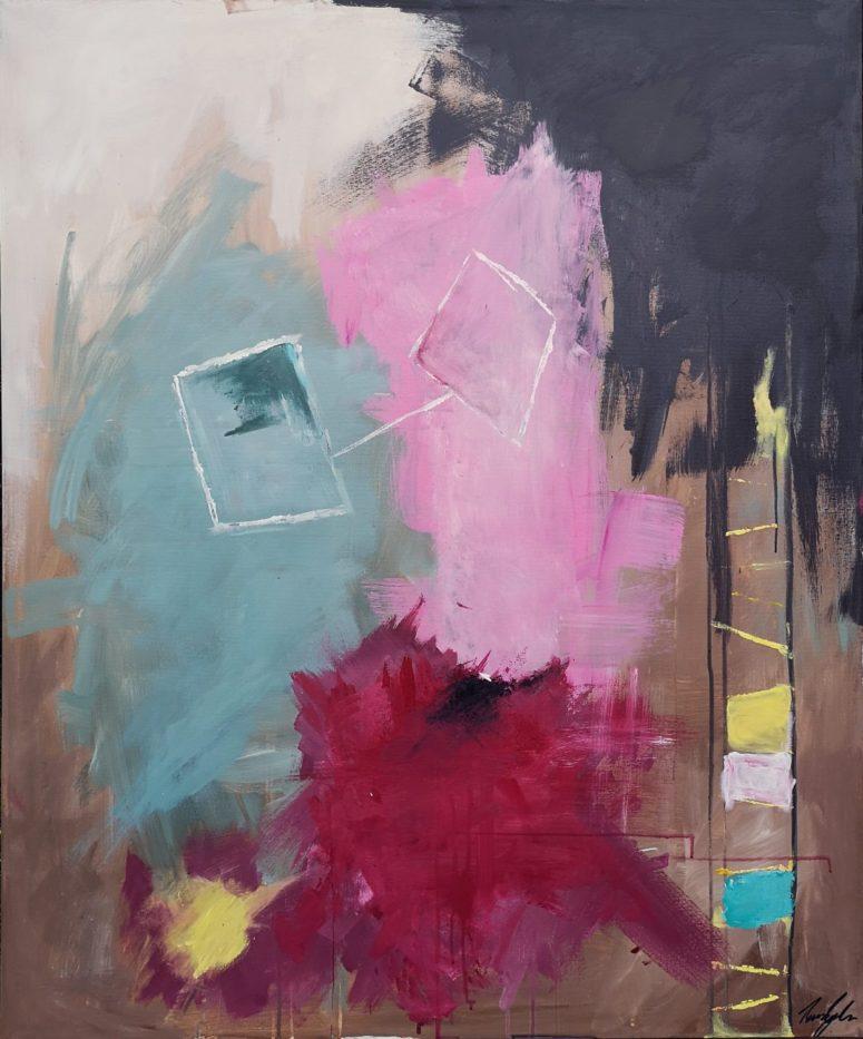 Venner, abstrakt maleri