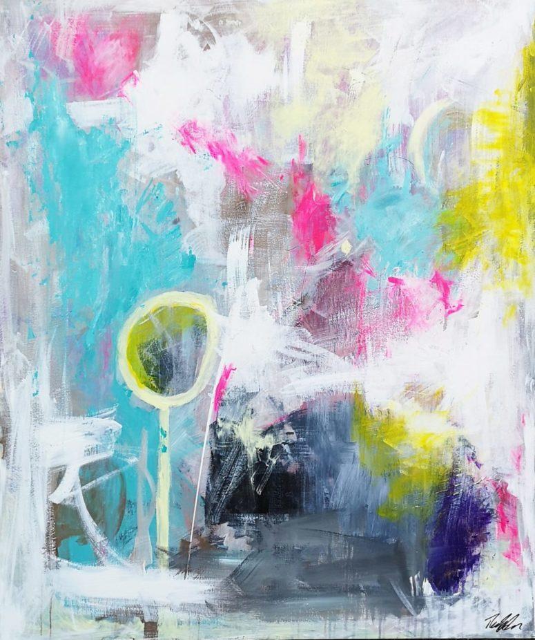 Det sted, du nu skal betræde, abstrakt maleri