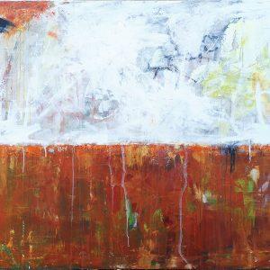 Under overfladen - abstrakt maleri af Thomas Jacobsen
