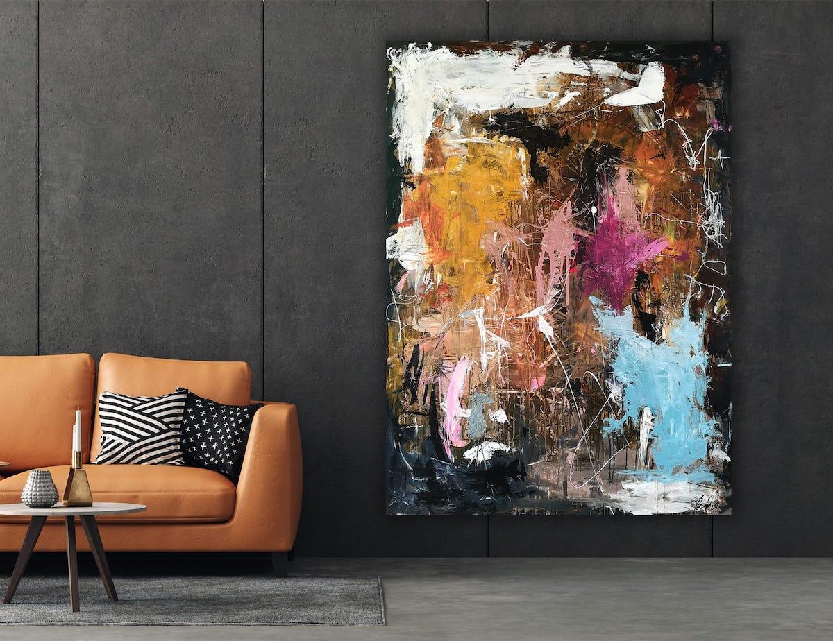 Malerier til stuen
