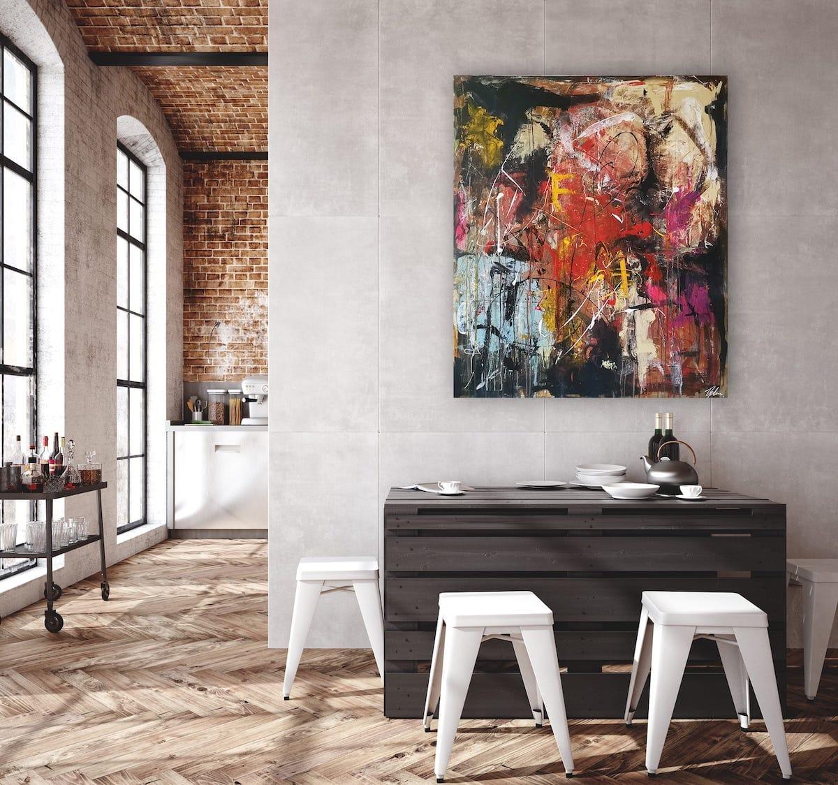 Maleri i køkken